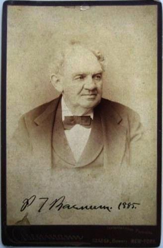 P.T. Barnum's signed photograph