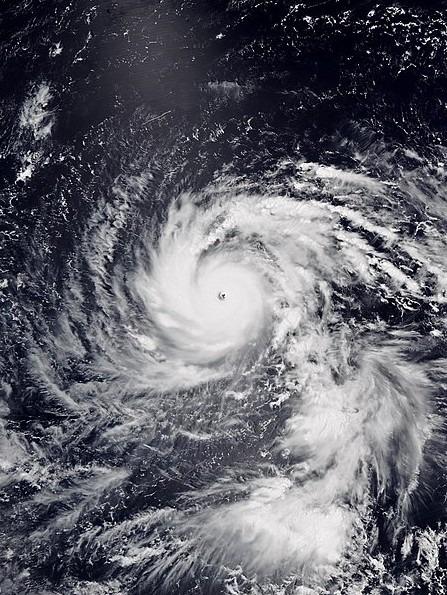 Typhoon Jebi at peak intensity in Japan